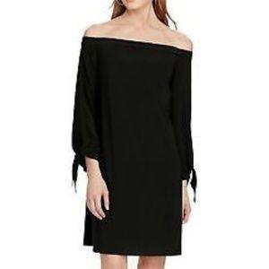 American Living Off Shoulder Shift Dress Black 16
